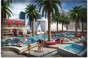 Drais beach club cabana images for Pool and patio show las vegas