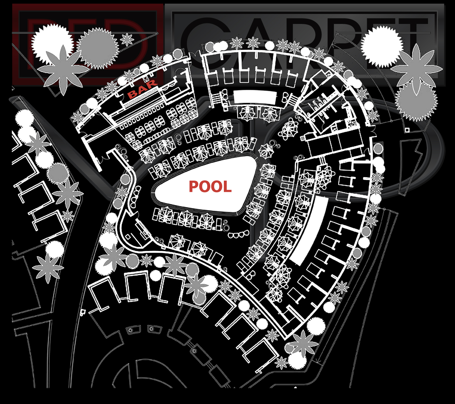 Las Vegas Pool Party Maps Red Carpet Vip