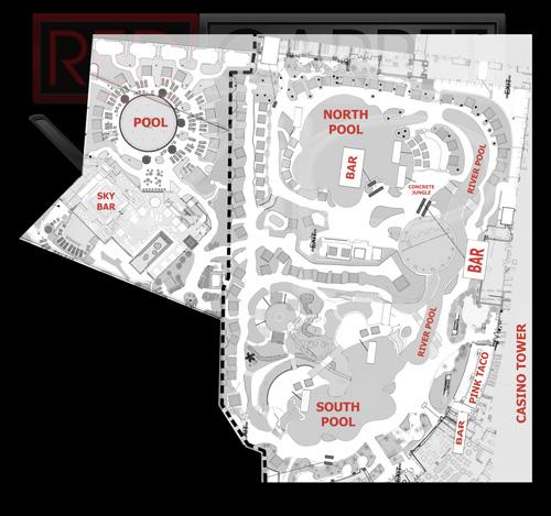 Las Vegas Pool Party Maps Red Carpet Vip