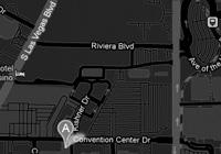 Map of Las Vegas vipnite Headquarters off the Las Vegas Strip